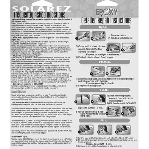 Solarez UV Cure Repair - 2.0 oz Repair 4theoutdoors America US USA SUP outdoors