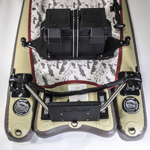 Fish Stalker Kayak Standup Paddle Board Trolling Motor Mount System Mounts 4theoutdoors America US USA SUP outdoors