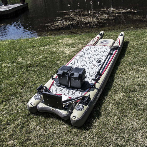 Fish Stalker Inflatable Fishing Kayak Standup Paddle Board with Motor Mount Paddle Boards 4theoutdoors America US USA SUP outdoors