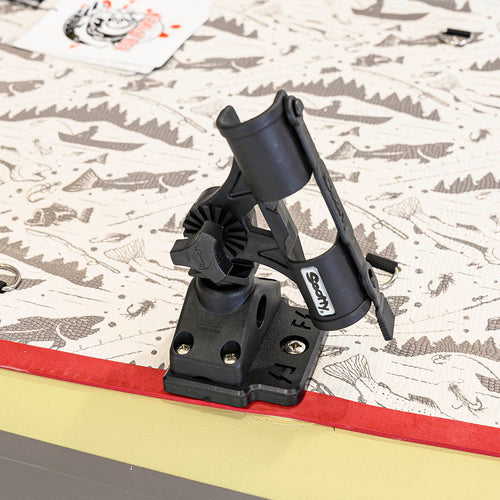 Scotty Fly Rod Holder with Side / Deck Mount (No. 265) with Fish Stalker Adapter Plate Mounts 4theoutdoors America US USA SUP outdoors