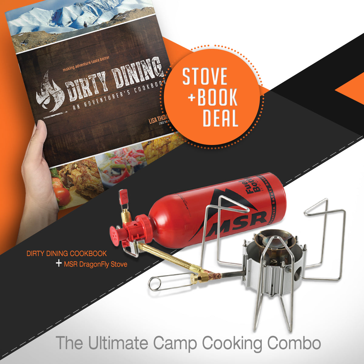 MSR DragonFly Stove and Dirty Dining Cookbook Cook Sets 4theoutdoors America US USA SUP outdoors