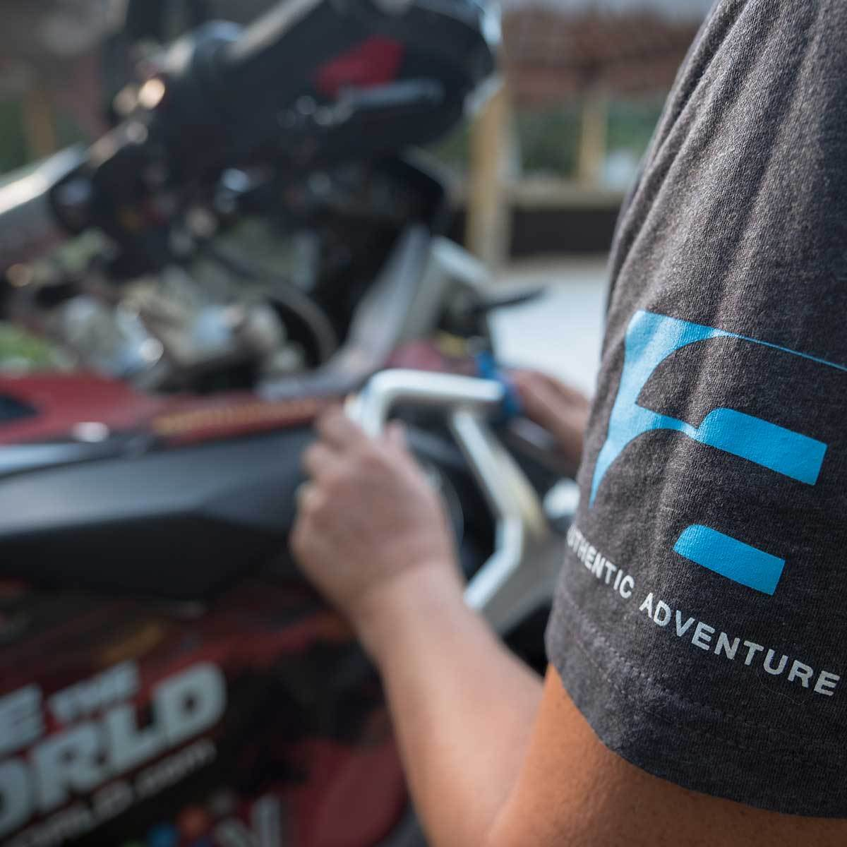 2 Ride The World T-Shirt - Adventure Motorcycle Travel Gear  4theoutdoors America US USA SUP outdoors