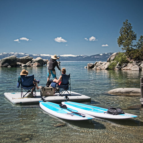 TRUCKEE/AUBURN RENTAL: Inflatable Cottage Dock - 8' x 10' + Battery Operated Pump Rental 4theoutdoors America US USA SUP outdoors