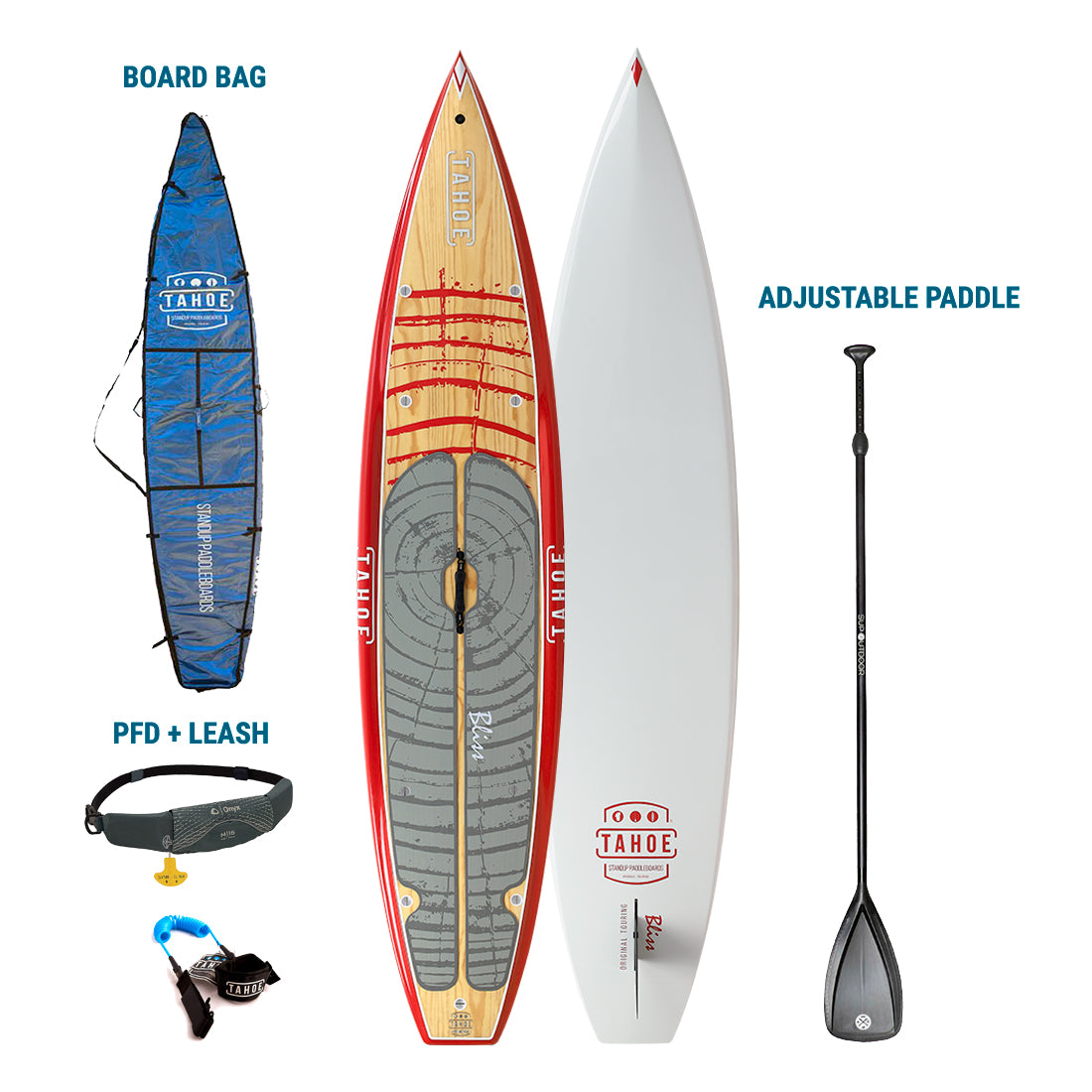 TRUCKEE/AUBURN RENTAL: Tahoe SUP Bliss Premium Stand Up Paddleboard + Board Bag + Paddle + Leash/PFD Rental 4theoutdoors America US USA SUP outdoors
