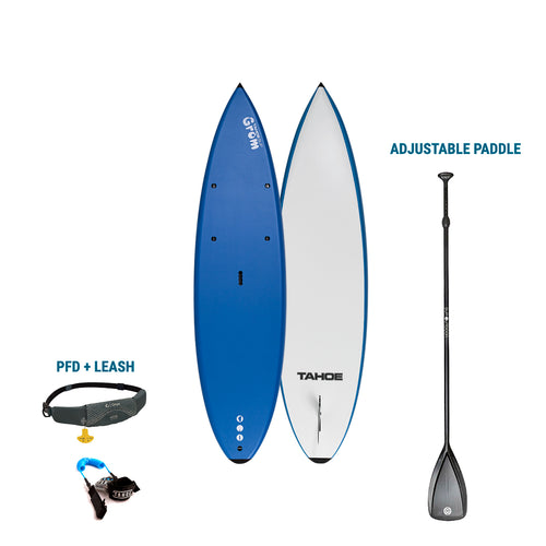 AUBURN RENTAL:  Tahoe SUP Soft Top Grom Kids + Paddle + Leash/PFD Rental 4theoutdoors America US USA SUP outdoors