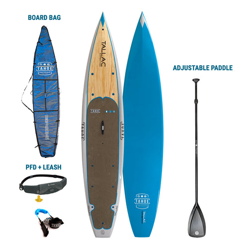 AUBURN RENTAL: Tahoe SUP Tallac Ultimate Expedition Paddle Board + Board Bag + Paddle + Leash/PFD Rental 4theoutdoors America US USA SUP outdoors