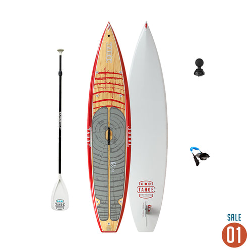 "01 Sale - Tahoe SUP Bliss™ Touring Standup Paddle Board + Adjustable Paddle, Leash, and Ram Mount Deck plug 1.5"" Tuff Ball Paddle Boards 4theoutdoors America US USA SUP outdoors"