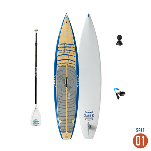 "01 Sale - Tahoe SUP Zephyr BLUE + Adjustable Paddle, Leash & Ram mount Deck plug 1.5"" Tuff Ball Paddle Boards 4theoutdoors America US USA SUP outdoors"