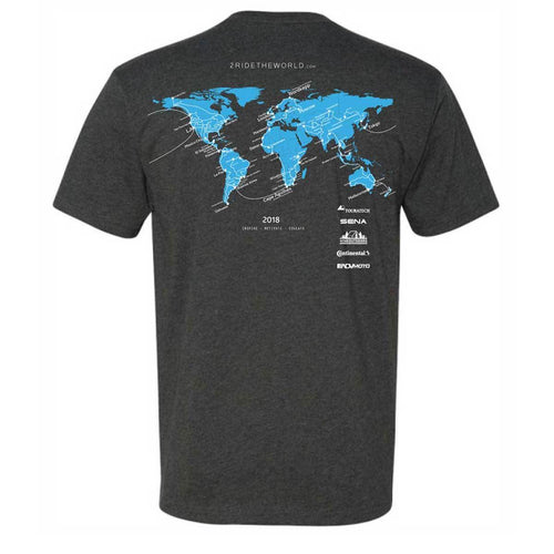 2 Ride The World T-Shirt - Adventure Motorcycle Travel Gear Apparel 4theoutdoors America US USA SUP outdoors
