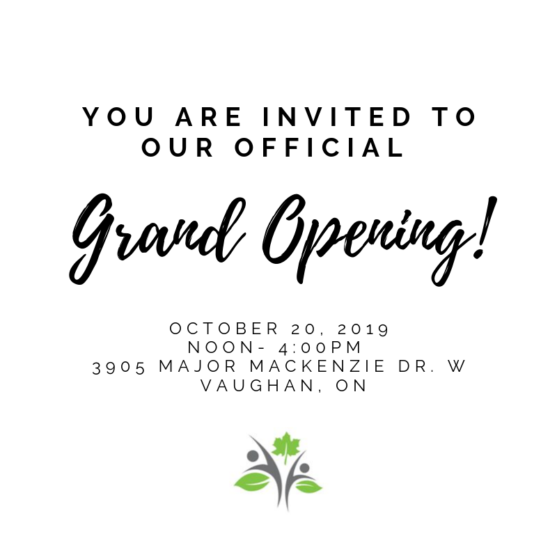 Grand Opening October 20th, 2019 from 12-4pm