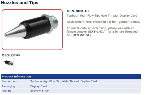 HFN-00M-DL NOZZLE (MALE) FOR  TYP-2500CS