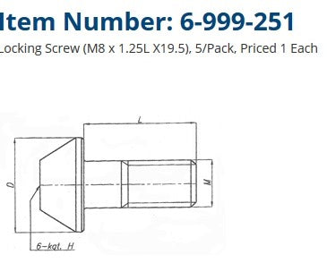 LOCKING SCREW 6-999-251 TMX