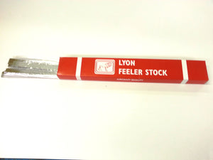 ".009 1/2""x 12"" Feeler Gauge   12/box"