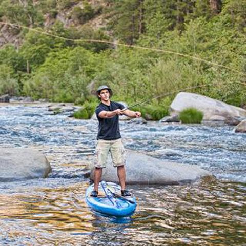 Tahoe SUP ambassador - Reed McClure, Paddle Board Fisherman