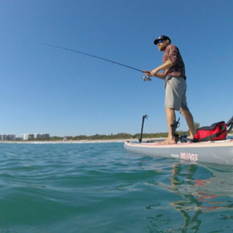 Fishing Meets Standup Paddle Boarding at Vero Beach, Florida