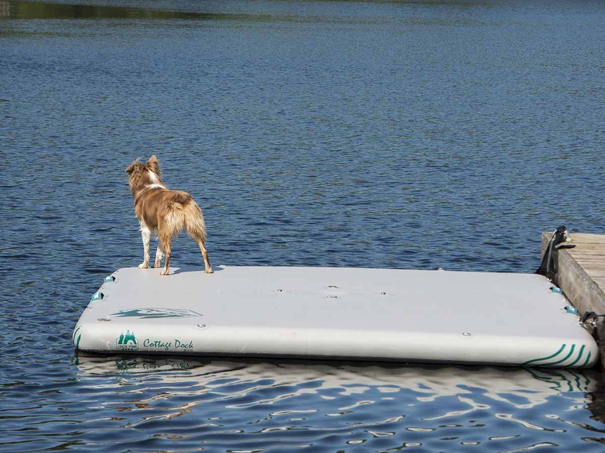 RENTAL - inflatable raft Jack Pine Cottage Dock - 8' x 10' Rental 4theoutdoors Canada SUP outdoors