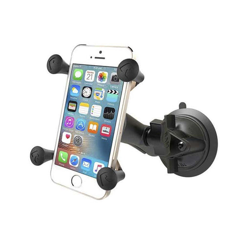 RAM Composite Twist Lock Suction Cup Mount with Universal X-Grip Cell Phone Cradle Mounts 4theoutdoors Canada SUP outdoors