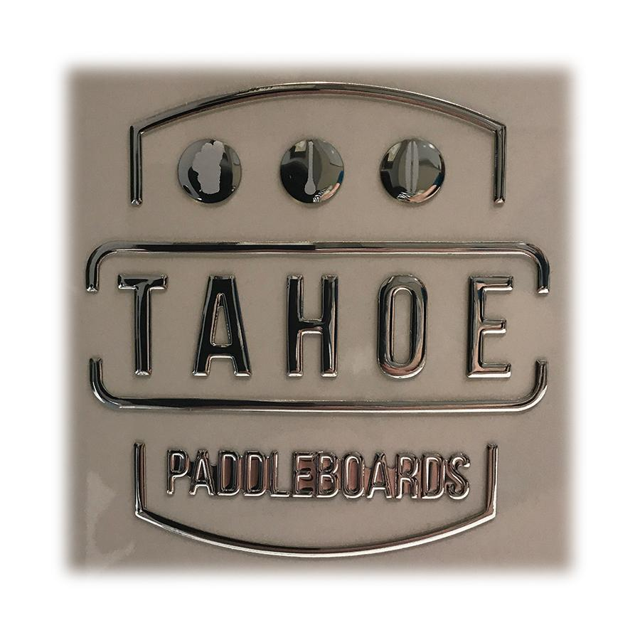 Tahoe SUP Logo Decal - 3D Chrome SUP Parts 4theoutdoors Canada SUP outdoors