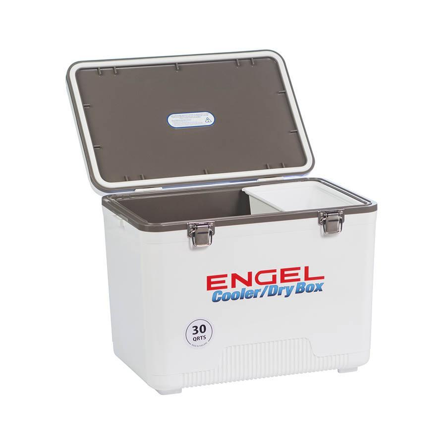 ENGEL COOLERS 30 QUART COOLER/DRY BOX - WHITE Coolers 4theoutdoors Canada SUP outdoors