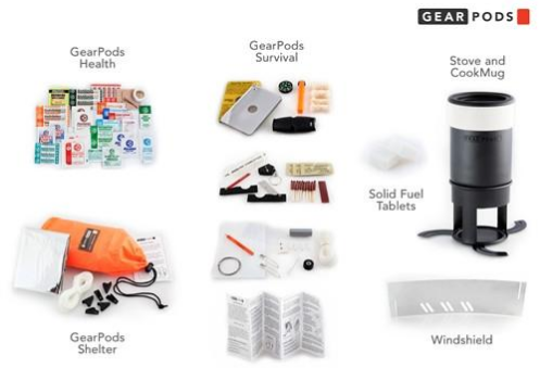GearPods Wilderness | First-Aid/Stove/Survival Gear Pods 4theoutdoors Canada SUP outdoors