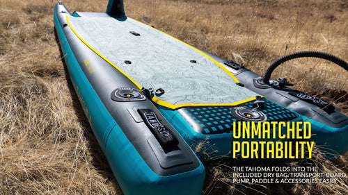 Tahoe SUP Tahoma Inflatable All Around Kayak Standup Paddle Board Paddle Boards 4theoutdoors Canada SUP outdoors