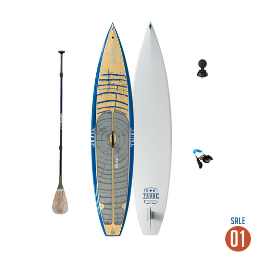"01 Sale - Tahoe SUP Zephyr Touring Standup Paddle Board + Adjustable Paddle, Leash, Ram Mount Deck plug 1.5"" Tuff Ball Paddle Boards 4theoutdoors Canada SUP outdoors"
