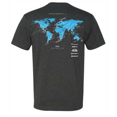 2 Ride The World T-Shirt - Adventure Motorcycle Travel Gear  4theoutdoors Canada SUP outdoors