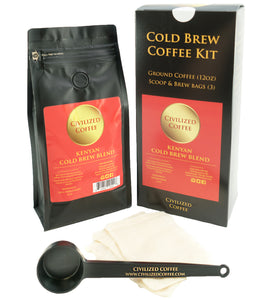 Cold Brew Coffee Starter Kit, Coarse Ground African Beans
