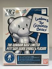 HG The Gundam Base Limited Petit'Gguy Silver Sparkle & Placard