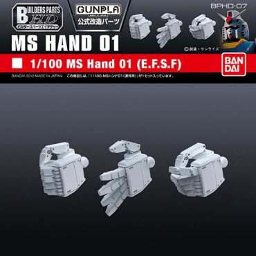 Builders Parts - HD 1/100 MS Hand 01 (E.F.S.F.)