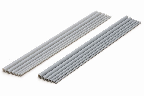 Plastic Pipe (Gray) Thin (250mm x 7.5mm 4pcs)