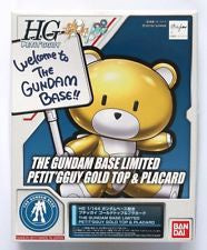 HG The Gundam Base Limited Petit'Gguy Gold Top & Placard
