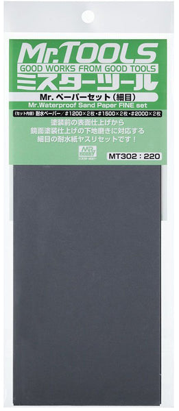 Mr. Waterproof Sandpaper Set (Fine) MT302