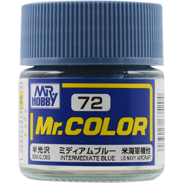 Mr. Color 72 - Intermediate Blue (Semi-Gloss/Aircraft) C72