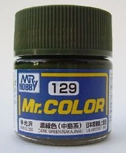 Mr. Color 129 - Dark Green (Nakajima) (Semi-Gloss/Aircraft) C129