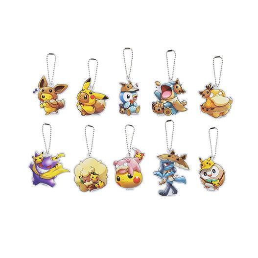 Pokemon Center Acrylic Charm Fan of Pikachu & Eevee Series