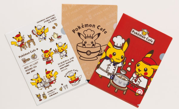 Pokemon Cafe Exclusive File Folder Red