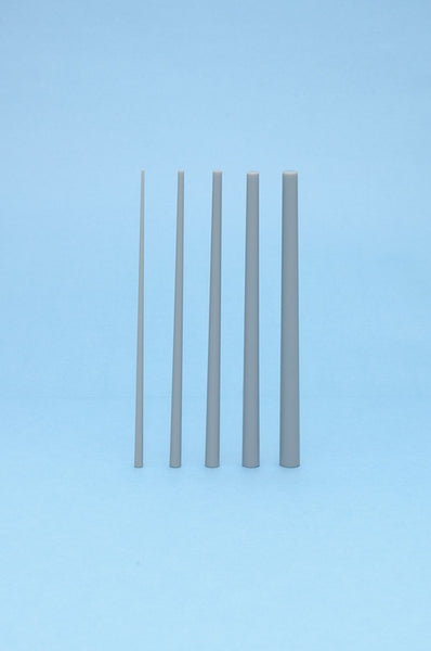 Plastic Materials (Gray) Taper Circle Stick 1.0-3.0: 10pcs