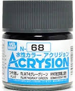 Acrysion N68 - RLM74 Gray Green (Semi-Gloss/Aircraft)