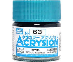 Acrysion N63 - Metallic Blue Green (Metallic/Aircraft)