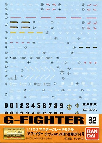 Gundam Decal 62 - G-Fighter