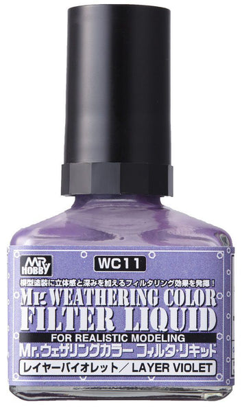 Mr. Weathering Color WC11 - Filter Liquid Violet
