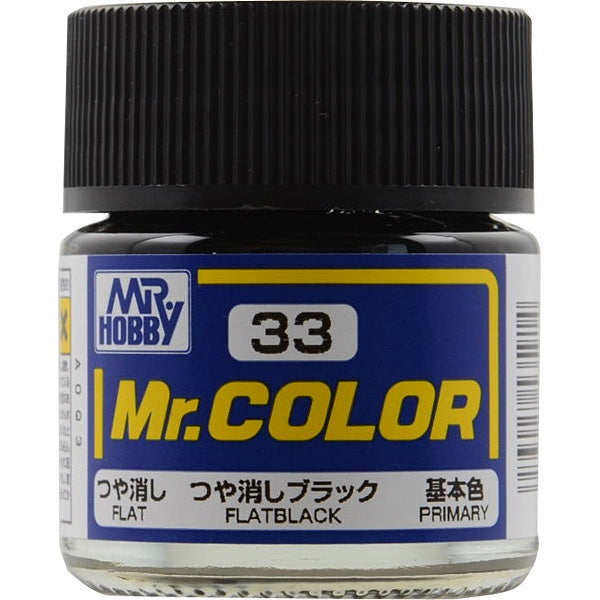 Mr. Color 33 - Flat Black (Flat/Primary) C33