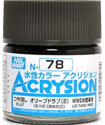 Acrysion N78 - Olive Drab (2) (Flat/Tank)