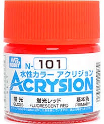 Acrysion N101 - Fluorescent Red (Semi-Gloss/Primary)