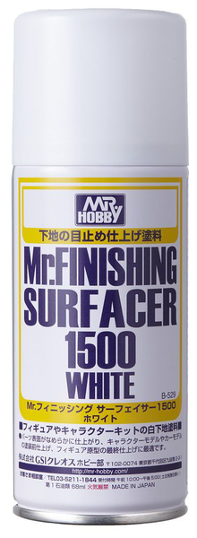 Mr Finishing Surfacer 1500 White Can B529
