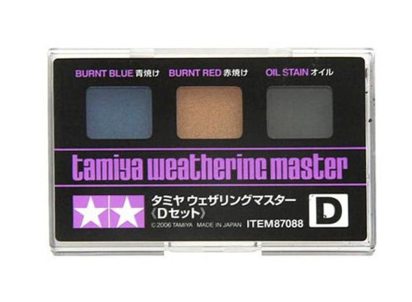 Weathering Master D Set (Burnt Blue, Burnt Red, Oil Stain)