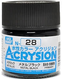 Acrysion N28 - Metal Black (Metallic/Primary)