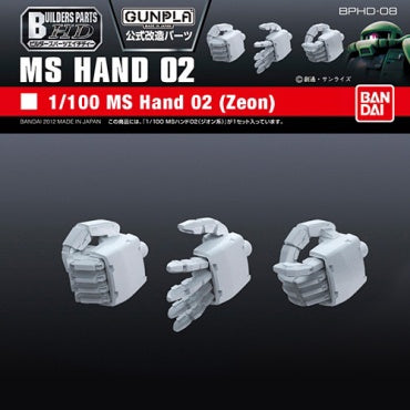 Builders Parts - HD 1/100 MS Hand 02 (ZEON)