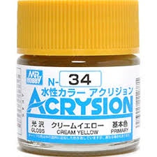Acrysion N34 - Cream Yellow (Gloss/Primary)